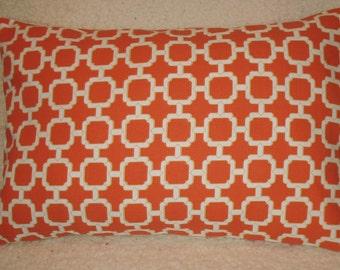 SALE Lumbar Pillow Cover  Manderin Orange Pillow Cover