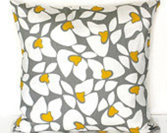 New TWO 18 x 18 Pillow Covers  Helen Grey