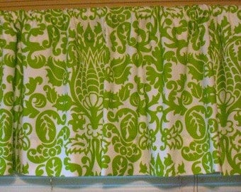 NEW Window Curtain-Valance Premier Prints Amsterdam Green