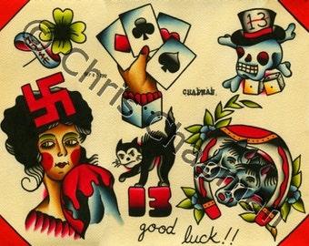 Good Luck Tattoo Flash