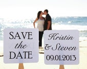 Set of Save the Date Engagement Picture Signs - Stolen Heart