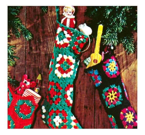 Vintage Crochet Pattern Christmas Stocking By 2ndlookvintage