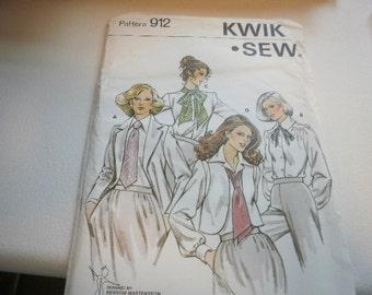 Pattern Ladies Ties 4 Styles Vintage Kwik Sew 912
