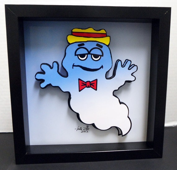 Boo Berry Cereal Box Art Funny Kitchen Art Breakfast By