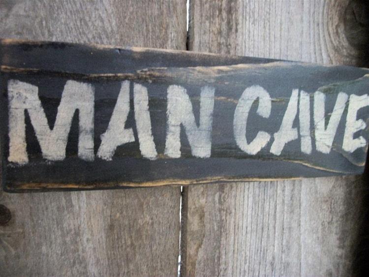 Rustic Man Cave Reviews : Man cave sign black distressed rustic primitive by