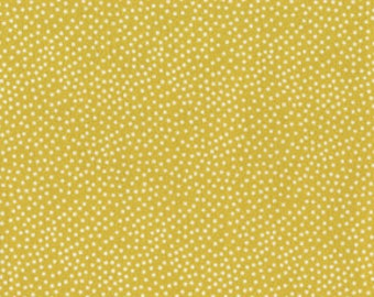 Citron and Gray Garden Pindot Citron for Michael Miller, 1/2 yard