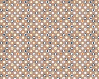 Super Star Tan Mini Dot  by Zoe Pearn of My Mind's Eye for Riley Blake, 1/2 yard