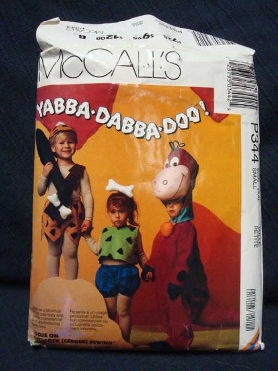 Yabba Dabba Doo Pebbles & Bam Bam Costumes Sizes3-4 McCalls P344 Flintstones