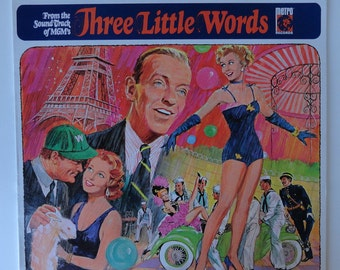 """Rare """"Three Little Words"""" Vinyl  Soundtrack (1967) Fred Astaire - Very Good Condition"""