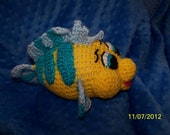 Crochet Flounder fish Little Mermaid