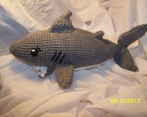 Crochet shark ANY colors you want