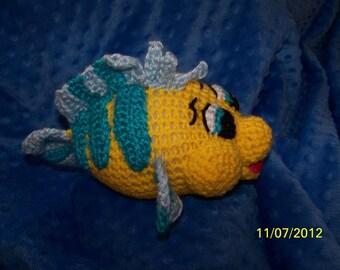 Crochet Flounder fish Little Mermaid