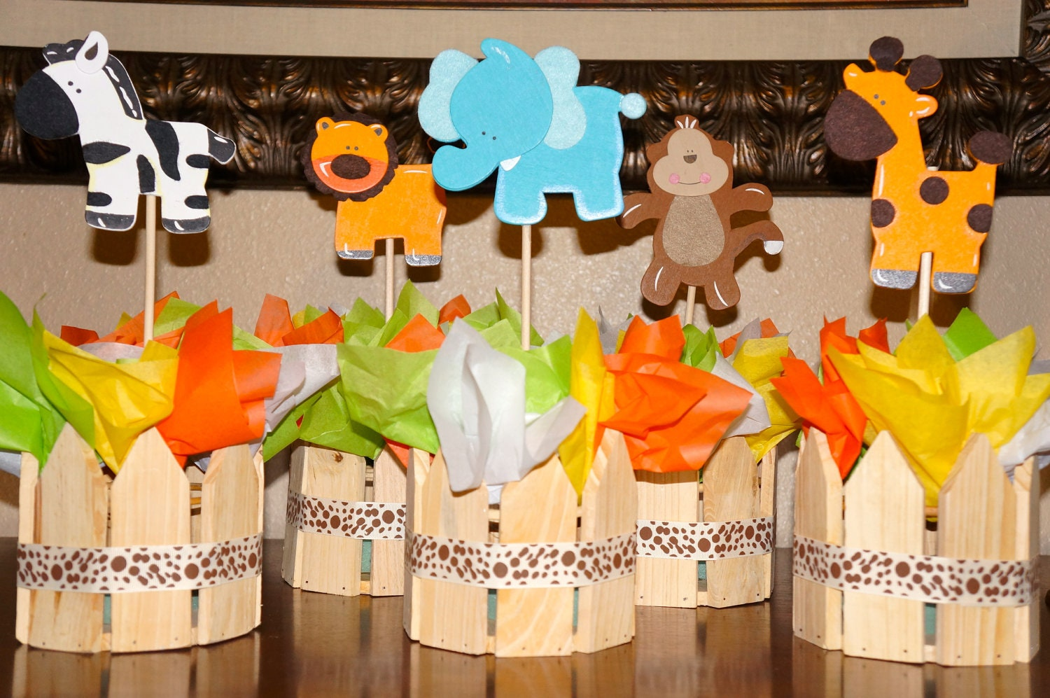 jungle theme baby shower table decorations baby shower