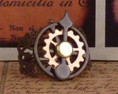 Steampunk ring vintage filigree and watch parts