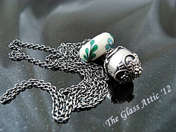 Oxidized Fantasy Style Chain for European Charm Beads Fits Trollbeads