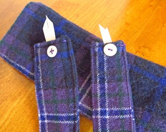 Scotland Forever tartan eyeglass case and two tartan bookmarks