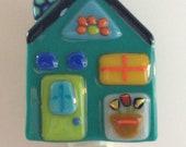 Happy House Fused Glass Nightlight