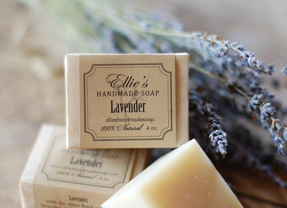 Lavender Soap - 100% Natural, Vegan, Made from Scratch, Olive Oil Soap
