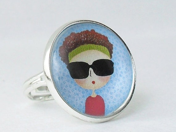 Little Girl With Sunglasses Ring