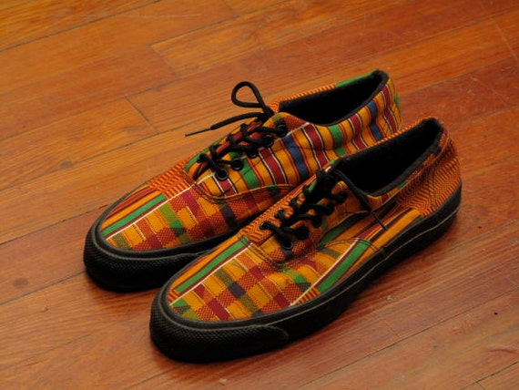 Vintage Dead Stock Converse Skid Grip Deck Shoes In Kente