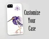 Personalized Phone Case - Custom Name Initials Logo or Monogram Case - Designer iPhone 7 Case