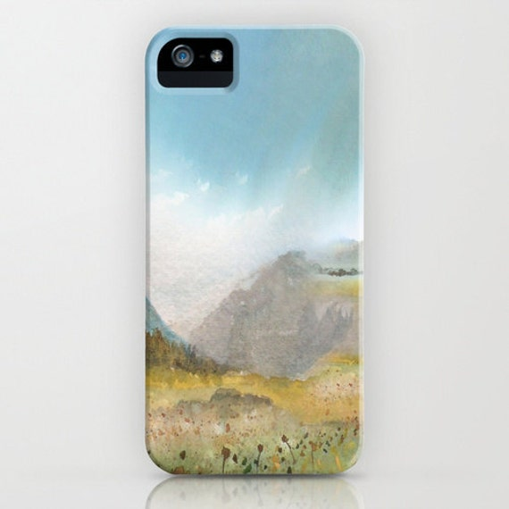 Meadow Phone Case - Landscape Painting - Designer iPhone Samsung Case
