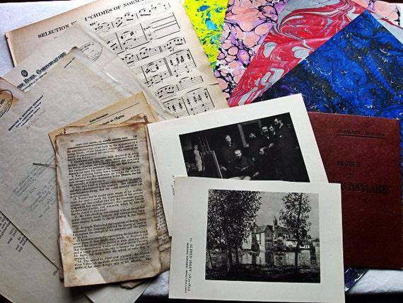 Antique and vintage ephemera for Scrapbooking Paper Arts No copies Collage worthy