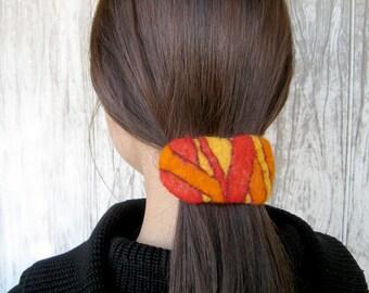 "A felt barrette hair accessories ""Decorative geometry"""