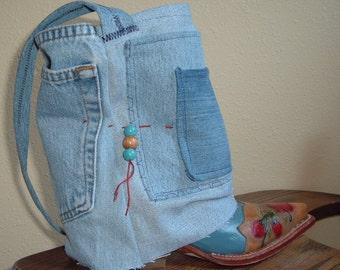 Cowboy Boot & Denim Purse