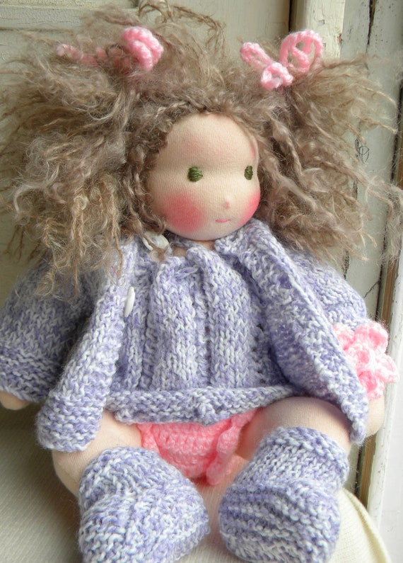 Rosie,a  Waldorf baby doll all hand made,stitch by stitch