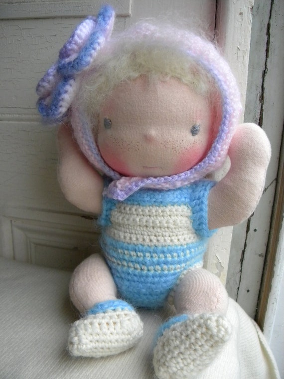 Alef is a lovely Waldorf doll all hand made