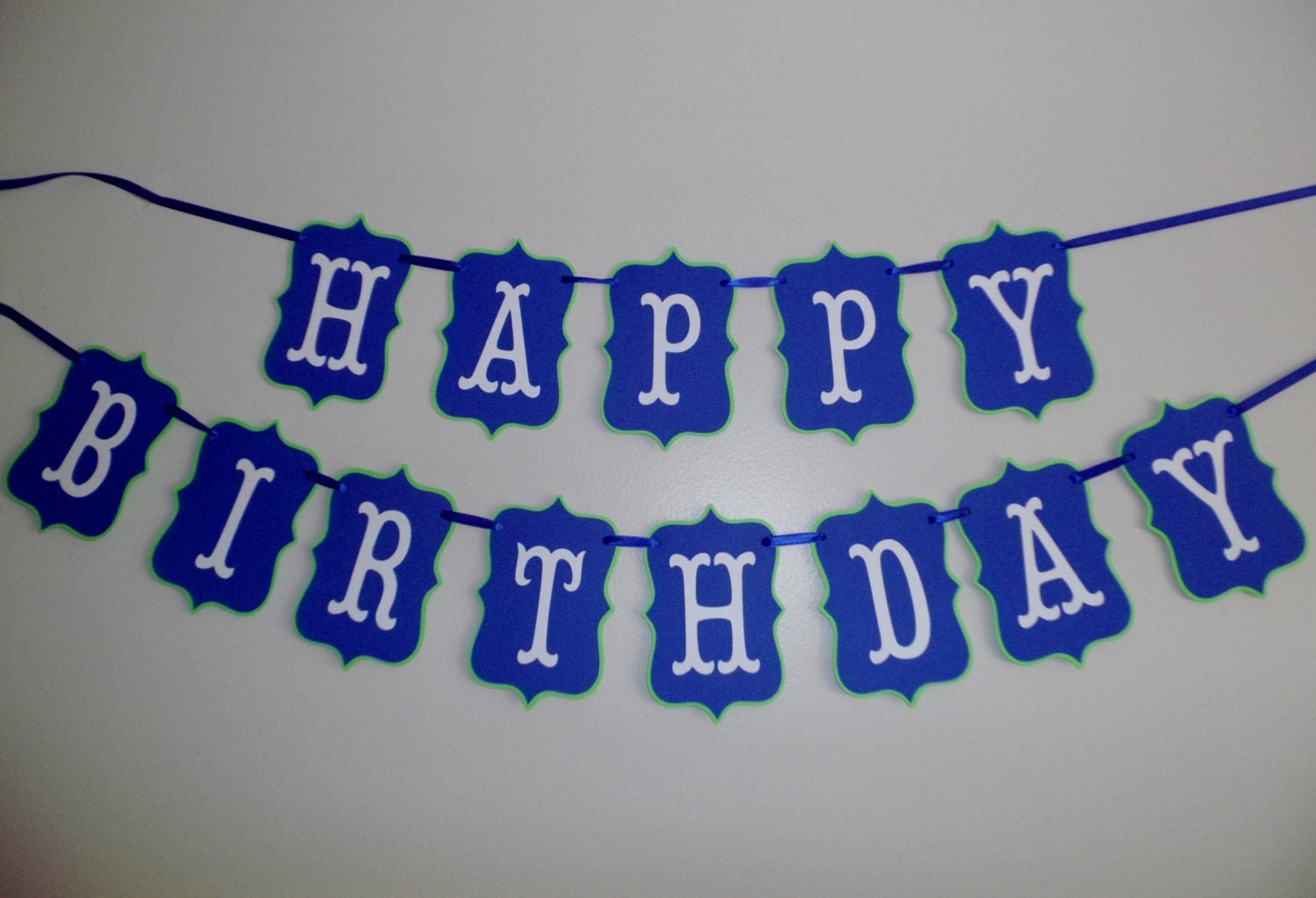 items similar to blue and green happy birthday banner boy