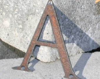 rustic steel letters custom 14 inch custom font name address letters