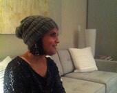 STONE hand knit wool beanie