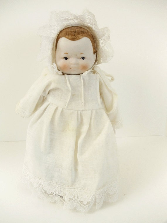 Vintage Bisque Baby Doll - Reproduction - Nursery - Doll Collector