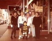 Digital Scan // Vintage // Color Photo // People in Halloween Costumes     0716