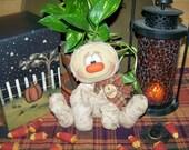 Primitive Folk Art Halloween Mummy Shelf Sitter Doll Pattern 9