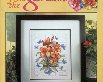 Jewels from the Garden - Cross Stitch Designs by Barbra Baatz Hillman of Kooler Design Studio for Leisure Arts
