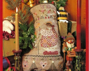 Tina's Stocking - A Shephard's Bush Christmas Stocking Cross Stitch Design