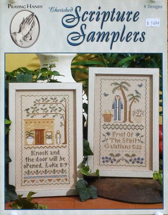 Cherished Scripture Samplers - Praying Hands - A Leisure Arts Cross Stitch Publication