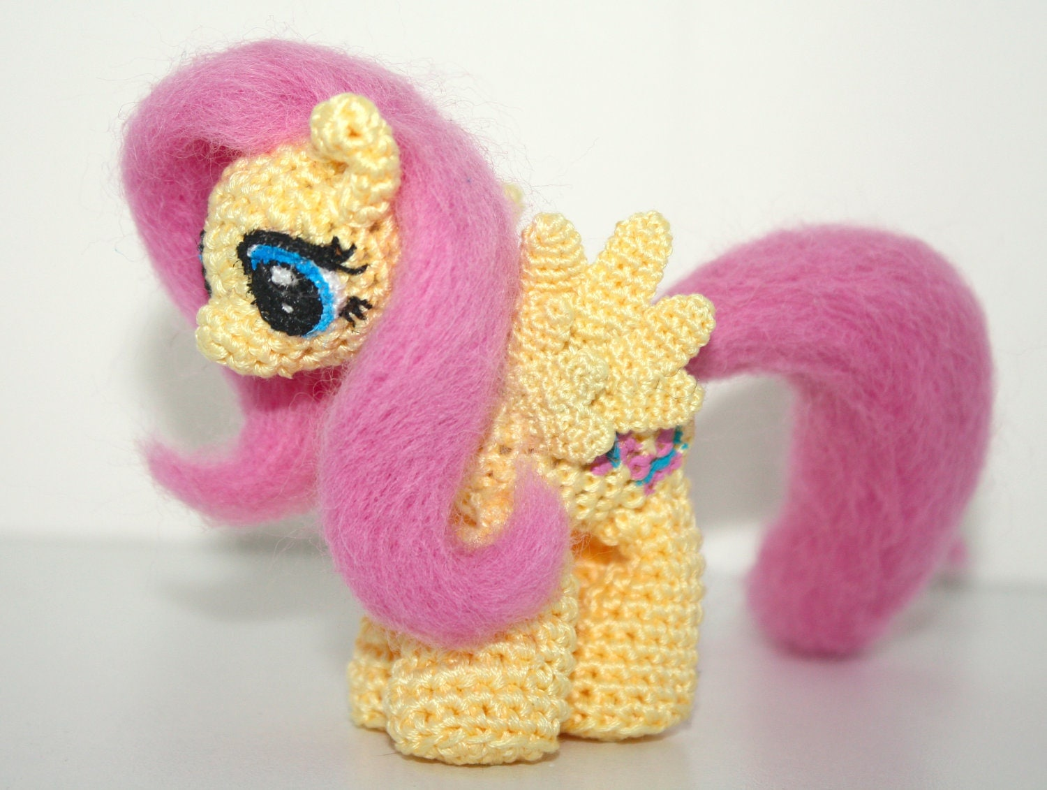 Amigurumi Mini Pony : Mini Fluttershy Amigurumi by SoapyBacon on Etsy