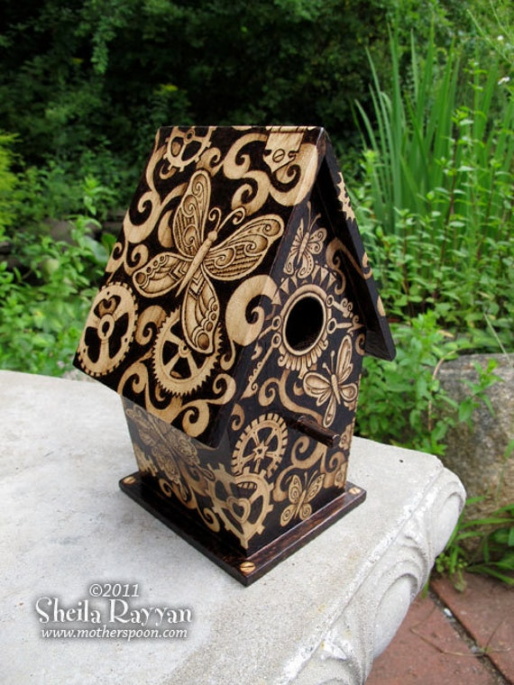 Steampunk Butterfly Birdhouse home decor