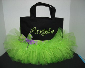 Tutu Tote - Personalized Lime Green or Choose your colors