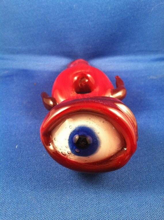 Functional Art Glass- Ruby Red Eye