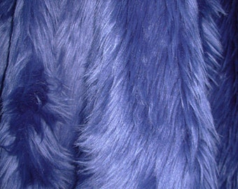 Navy Faux Fur Craft Size