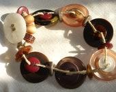 Handmade Bracelet Buttons and Beads