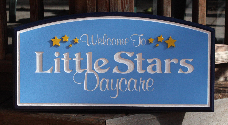 Custom business daycare sign home decor housewares office - Custom signs for home decor concept ...