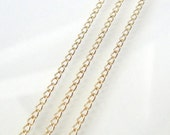 36 Inch Gold Filled 1.6mm Curb Chain With Spring Clasp - Custom Lengths Available