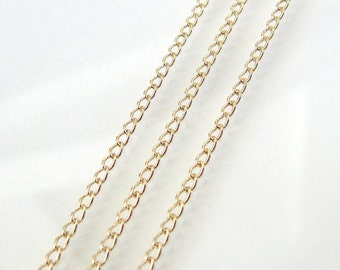 30 Inch Gold Filled 1.6mm Curb Chain With Spring Clasp - Custom Lengths Available