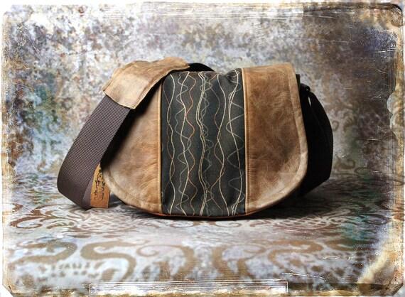 Leather Camera Bag New  -  Tapestry Medium DSLR - IN STOCK